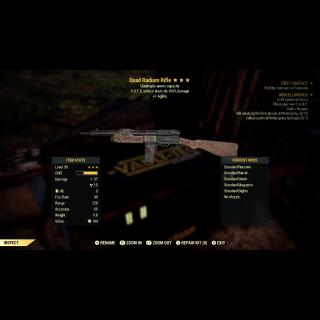 Weapon | 3* Quad Radium Rifle