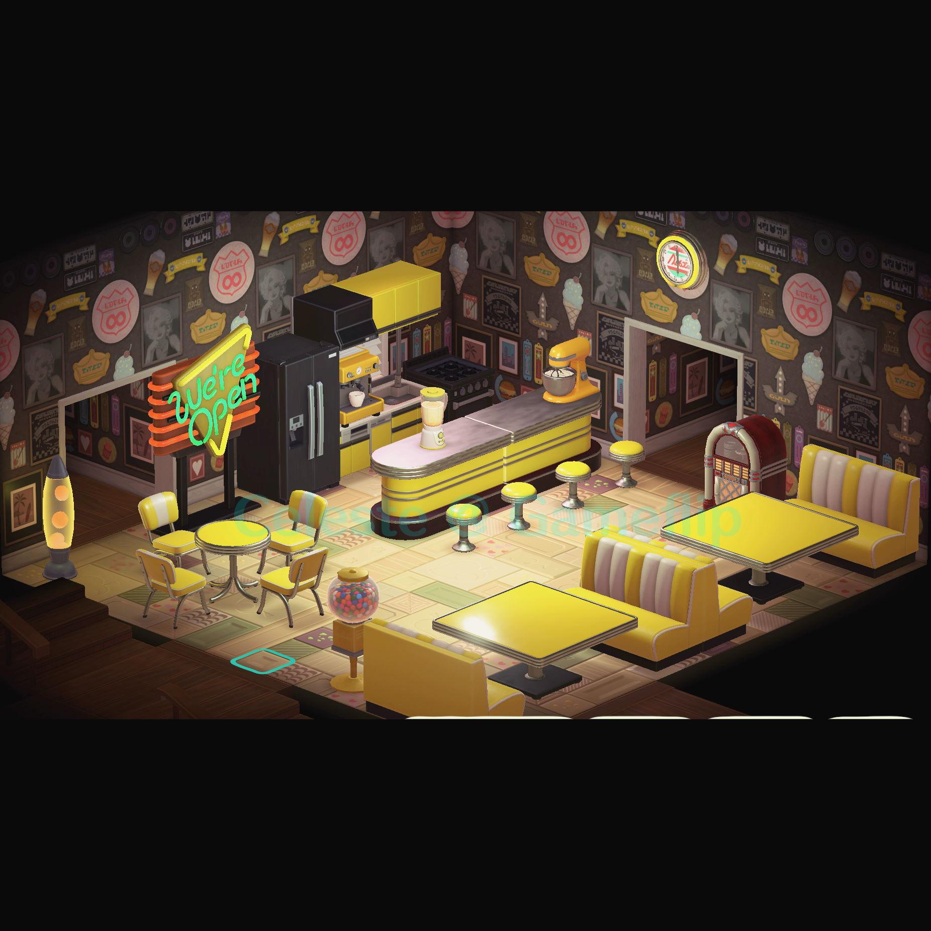 Furniture Yellow Diner Set In Game Items Gameflip