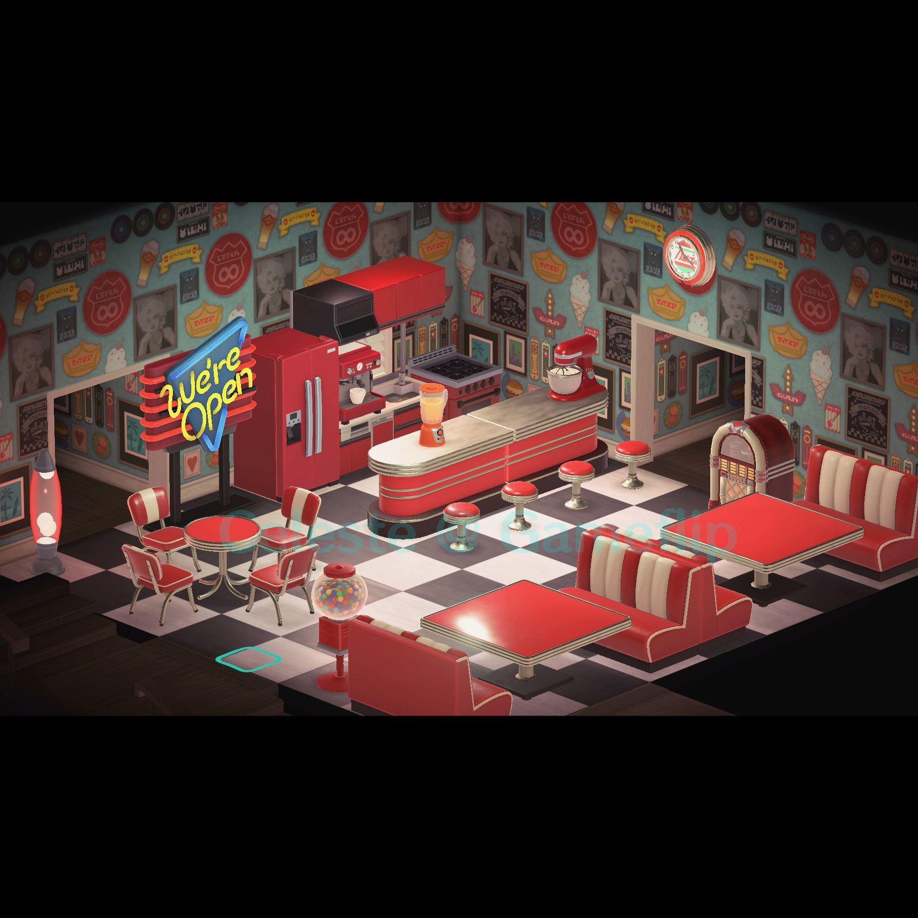 Furniture Red Diner Set In Game Items Gameflip