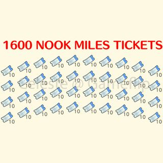 Nook Miles Tickets   1600x NMT