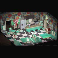 Furniture   Aqua/Turquoise Diner Set