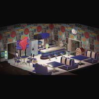 Furniture   Blue Diner Set