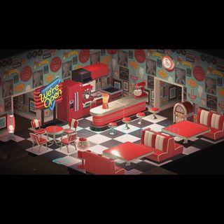 Furniture   Red Diner Set