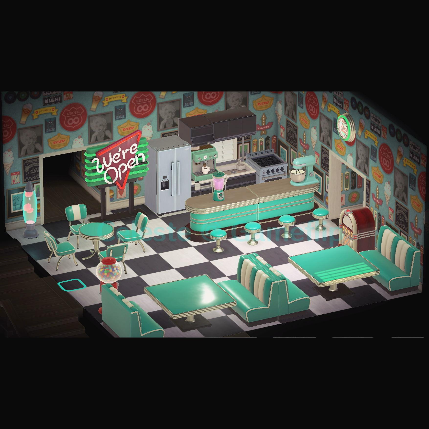 Furniture Aqua Turquoise Diner Set In Game Items Gameflip