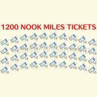 Nook Miles Tickets   1200x NMT