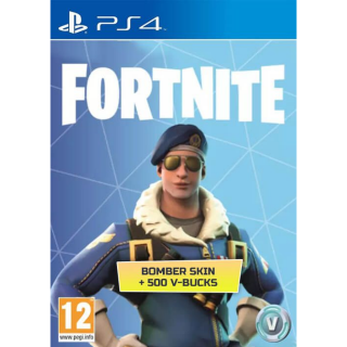 Fortnite Bomber Skin + 500 V-Bucks PS4(EU)