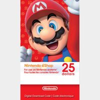 $25.00 Nintendo eShop