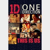 One Direction: This Is Us SD Vudu / MA - Instant Delivery!