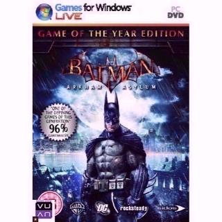 Batman: Arkham Asylum - Game of the Year Edition Steam CD Key - GLOBAL / WORLDWIDE