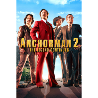 Anchorman 2: The Legend Continues HD iTunes / MA port - Instant Delivery!