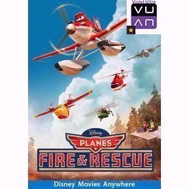 Planes: Fire & Rescue HDX Vudu/MA/iTunes/Google Play - Instant Delivery!