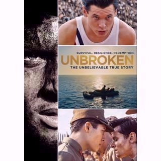 Unbroken HDX UltraViolet / Movies Anywhere - Instant Delivery!