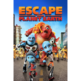 Escape from Planet Earth HDX Vudu - Instant Delivery!