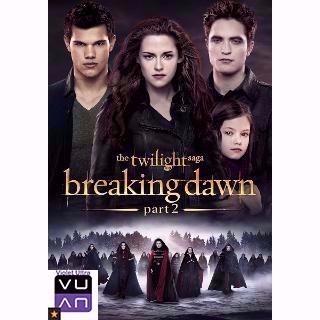 The Twilight Saga: Breaking Dawn Part 2 HDX UV / MA / Vudu - Instant Delivery!