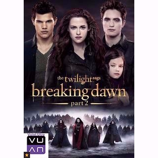 The Twilight Saga: Breaking Dawn Part 2 HDX UltraViolet or iTunes - Instant Delivery!