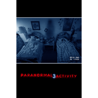 Paranormal Activity 3 HD iTunes - Instant Delivery!