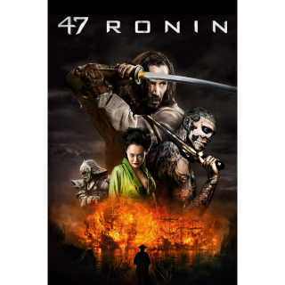 47 Ronin HD iTunes / MA port - Instant Delivery!