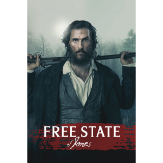 Free State of Jones iTunes / MA port - Instant Delivery!