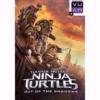 Teenage Mutant Ninja Turtles 2: Out of the Shadows HDX UltraViolet - Instant Delivery!