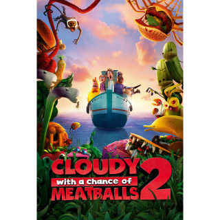 Cloudy with a Chance of Meatballs 2 SD MA / Vudu - Instant Delivery!