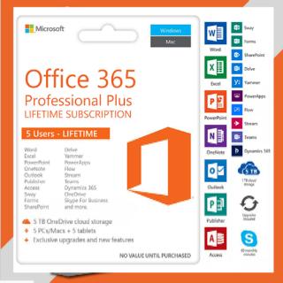 MICROSOFT OFFICE 365 LIFETIME ACCOUNT✔️ 5 DEVICES 5TB WINDOWS✔️ MAC✔️ MOBILE