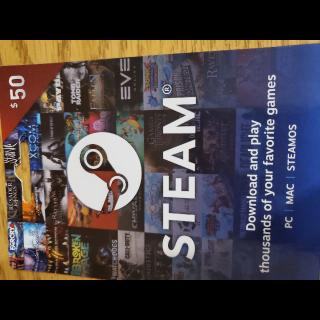 2 x $50.00 Steam