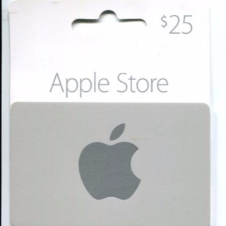 $25.00 Apple Store Gift Card(not iTunes) Pin