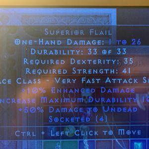 Base   Superior flail 4os