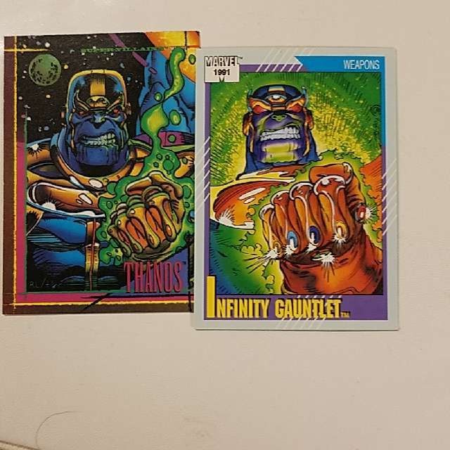 Infinity Gauntlet And Thanos Trading Cards Trading Cards