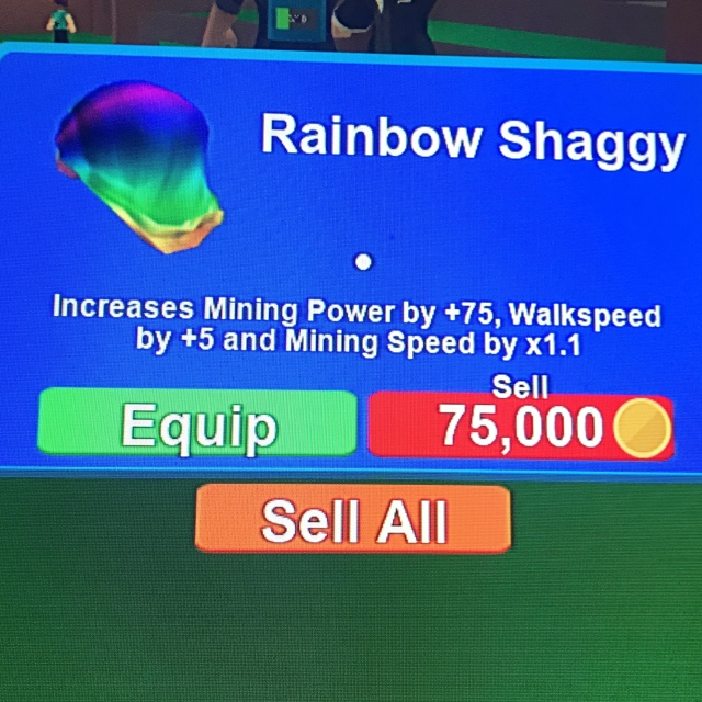 Rainbow Shaggy Roblox Mining Simulator Other Gameflip