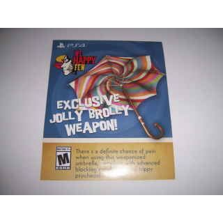 We Happy Few Add on DLC - Exclusive Jolly Brolly Weapon for PlayStation 4 PS4 - INSTANT DELIVERY