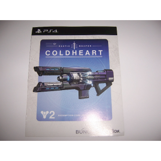 Coldheart Exotic Weapon Code for Destiny 2 Playstation 4 PS4