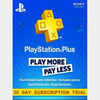 Playstation Plus 30 Day Trial Key (See description) - INSTANT DELIVERY!