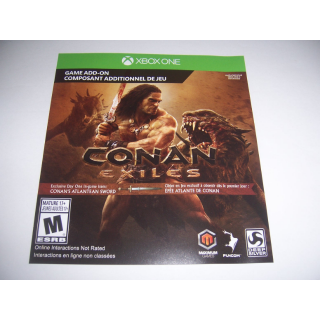 Conan Exiles Day One Edition Add-on Code DLC for Xbox One XB1 Atlantean Sword