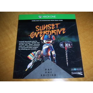 Sunset Overdrive Day One Edition Code (DLC) for XBOX ONE - INSTANT DELIVERY