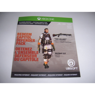 Tom Clancy's The Division 2 Capitol Defender Pack Code DLC for Xbox One XB1