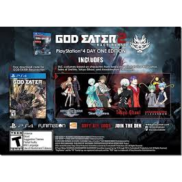 GOD EATER 2 RAGE BURST DLC Collaboration Costume Pack - INSTANT DELIVERY + Bonus Game God Eater Resurrection for PS4