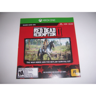 Red Dead Redemption II 2 Download Code (DLC) for The War Horse and the Outlaw Survival Kit Xbox One XB1 - INSTANT DELIVERY
