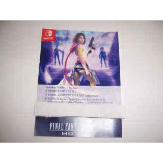 Final Fantasy X-2 Game Download Code for Nintendo Switch - FULL GAME - INSTANT DELIVERY - Final Fantasy X Cartridge REQUIRED