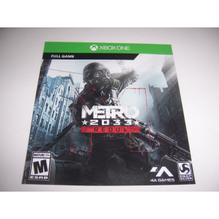 Metro Redux 2033 Full Game Download DLC for Xbox One XB1