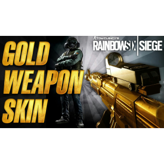 Rainbow Six Siege Gold Weapons Skin Pack Day One Download Code (DLC) for PlayStation 4 PS4 - INSTANT DELIVERY