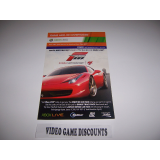 Forza Motorsport 4 Add-on Code for Track Pack and Car Pack
