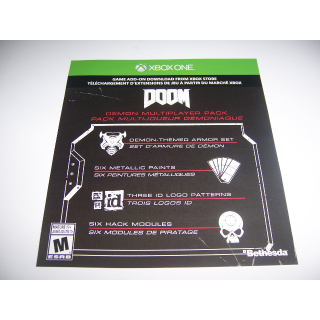 Download Code DLC for Doom Xbox for the Demon Multiplayer Pack Add-in