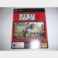 Red Dead Redemption II 2 Download Code (DLC) for The War Horse and the Outlaw Survival Kit PlayStation 4 PS4 - INSTANT DELIVERY