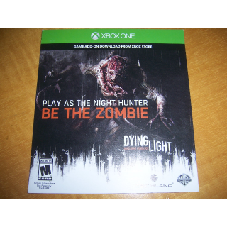 Dying Light Play as the Night Hunter Be the Zombie Code (DLC) for XBOX ONE - INSTANT DELIVERY