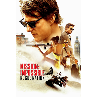 Mission: Impossible - Rogue Nation - Digital Download Code - Instant Delivery - VUDU - ITUNES - FANDANGO