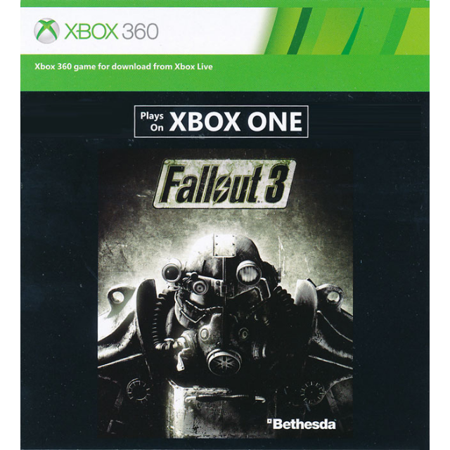 5x codes to download the game fallout 3 for xbox one or xbox 360