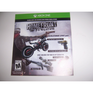 Homefront The Revolution Code DLC for EXTRA CONTENT Add-on Xbox One XB1 - Instant Delivery
