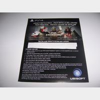 Download code for the Legacy Battle Pack for the game For Honor PlayStation 4 PS4