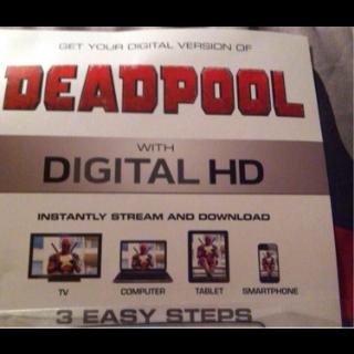 Deadpool Digital Download Code - Instant Delivery